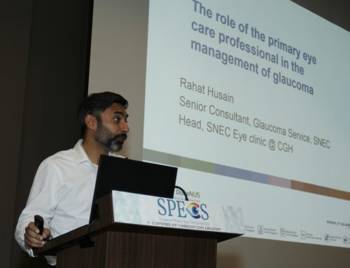 Adj A/Prof Rahat Husain Shares Role of Primary Eye Care Professionals in the Management of Glaucoma at SPECS 2017