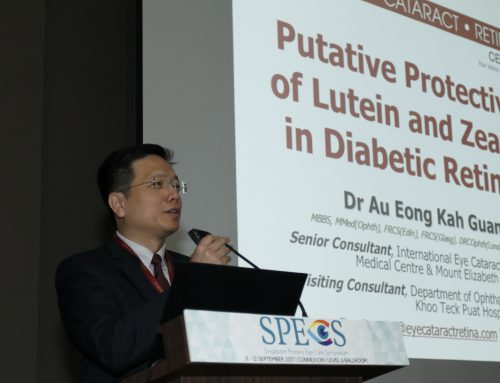 Dr Au Eong Kah Guan Highlights the Putative Protective Role of Lutein and Zeaxanthin in Diabetic Retinopathy at SPECS 2017