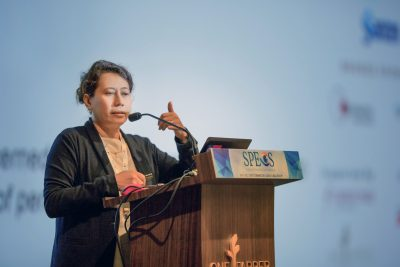 Professor Datuk Dr Rokiah Hj Omar giving her lecture during the Singapore Primary Eye Care Symposium (SPECS) 2018 held on 18-19 July 2018 at One Farer Hotel