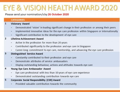Calling for Nominations for the Eye & Vision Health Award 2020!